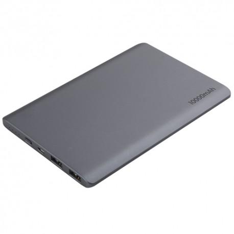 超薄型・軽量 大容量10000mAhモバイルバッテリー【TMBPAD10K-BK】