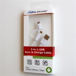 2 in 1 Micro USBケーブル