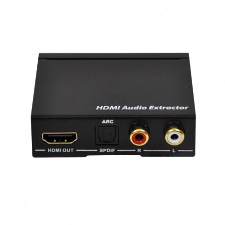 HDMI 音声分離器【THDTOA-4K】| HDMIの音声を光デジタル、アナログに分離させる音声分離器